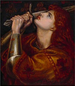 Rossetti's Joan at prayer